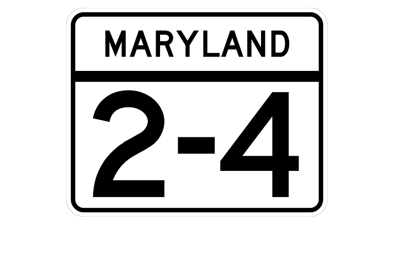 MD 2-4 sign