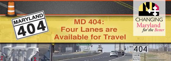 MD 404 is a Promise Kept ... Project Delivered.
