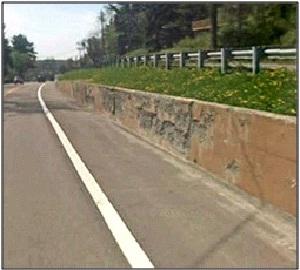 Retaining wall US 219