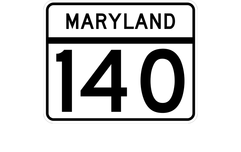 MD 140 sign