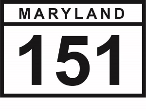 (MD 151 sign