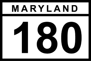 MD 180 sign