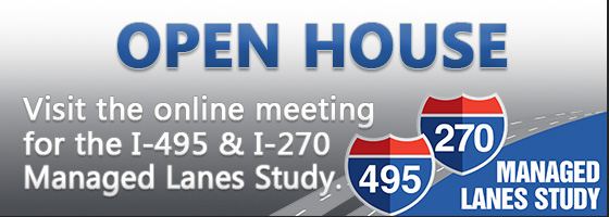I-495 and I-270 Managed Lanes Study Online Meeting
