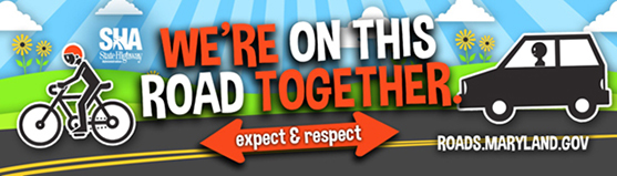 Respect Banner - We're on this road together.