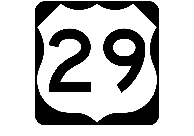 US 29 sign