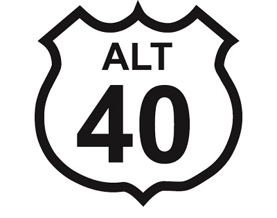 US 40 Alt sign