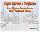 MDOT SHA Utility Procedures Manual cover image