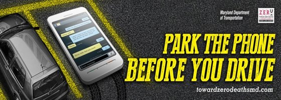 Avoid a fine and park the phone before you drive.