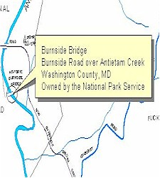 Location map of Burnside Bridge