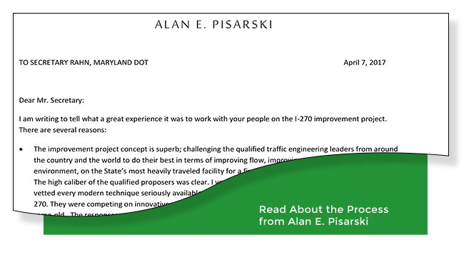 Read About the Process from Alan E. Pisarski